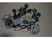 Guitar Jack leads and XLR cables