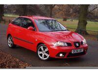 """Seat Ibiza Dab 1.9TDI 2007 105bhp* Full Service* 1-Owner* 16"""" Rims* Red* 7-Mot&Tax"""