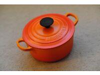 Le Creuset Cast Iron Round Casserole Dish 16cm, Volcanic Orange!
