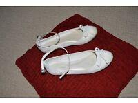 Ivory satin size 3 bridesmaid shoes