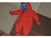 Mothercare red snowsuit 3 - 6 months
