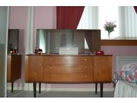 Solid Teak Schreiber Dressing Table with Mirror