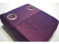 NEXT, New Aubergine/Navy Two Tone Silk Eyelet Curtains - Retail Price £99