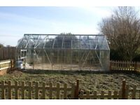 Huge Greenhouse, 6.25m by3.18m, eight opening roof windows, two louvre windows, only three years old