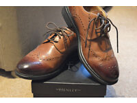 Henry Tan Derby Brogues Size 8