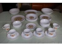 Corelle Floral Pattern China Tableware from Plates to Serving Bowls, 30 Pieces, £1 each