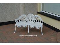White 3-seater Garden Chair