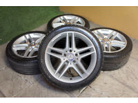 """Genuine Mercedes C Class AMG W204 17"""" Alloy wheels & Tyres 5x112 Alloys C Class Coupe"""