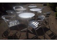 ALUMINIUM TABLES AND CHAIRS