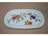 Royal Worcester Evesham Green Edge serving dish