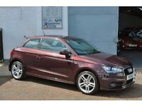 2011 AUDI A1 S LINE 1.6 TDI SHIRAZ RED FASH LOW RATE FINANCE + 6 MONTHS WARRANTY NOT POLO A3 MINI