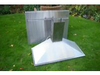 Cooker Extractor and Splashback; Stainless Steel