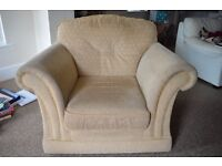 Really comfortable Beige Armchair for sale! Used- very good condition.
