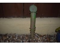 Parasol or washing line screw in the ground spike