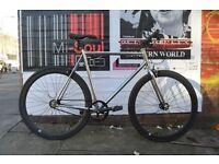 Brand new single speed fixed gear fixie bike/ road bike/ bicycles + 1year warranty & free service j1