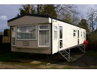 Haggerston Castle Luxury caravan for hire. GCH Double ensuite. Bathroom with bath!