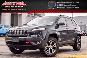 2016 Jeep Cherokee Trailhawk 4x4|Nav|Backup Cam|R.Start|Leather|