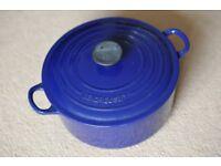 Le Creuset Cast Iron Casserole Dish 24cm, Blue