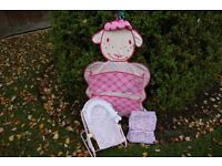 Annabel Doll Accessories - Chair, Hanging Organiser and Rucksack Baby Carrier