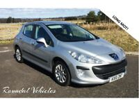 2010 Peugeot 308 1.6 vvti 5 door hatch in silver metallic with charcoal trim, 85k mot March 2019