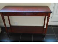 DARK WOOD 2 Drawer CONSOLE TABLE Ideal UpCycling!