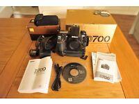 Nikon D700 body and grip