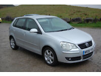 VW Volkswagen polo match 1.4 tdi, 5 door, 2008/08, £30 tax, MOT 08/18, New shape
