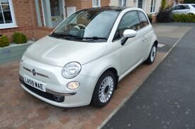 Fiat 500 Lounge Automatic/Dual Logic 2009 in Metallic Pearl - Immaculate Condition Inside and Out