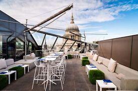 Bartender / Mixologist - Rooftop Bar & Restaurant - City of London - £9-11ph - Career opportunities