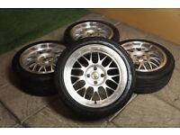 "Genuine Cades Eros 16"" Alloy wheels & Tyres 4x100 Civic Starlet Yaris Clio Corsa Mx5 Astra Alloys"