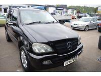 2004 Mercedes Benz M CLASS ML270 CDI AUTO IN GOOD CONDITION MOT UNTIL AUGUST 2017