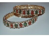 beautiful bangles with artificial multi color stones size 2.6