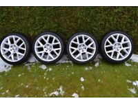 GOLF EDITION 35 STYLE ALLOY WHEELS 18 8J 5 x 112 MONTHS OLD VGC
