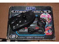 Sega Mega Drive Modded 50/60Hz and Jpn/Eng Switches With original box, 1x controller, arcade stick