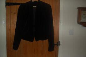 Principles black short box style suede jacket about size 14