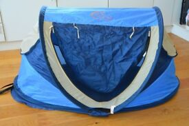 Baby Travel Cot /beach sun shade £45 *Excellent for travel and kids loved it*