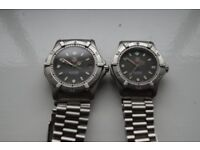 Tag Heuer 2000 Series automatic mechanical wristwatch -Swiss -'80s - gent's and mid-size pair