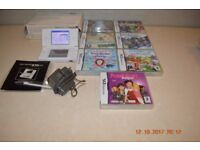 Nintendo ds lite white boxed with games