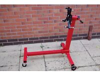 Engine / Gearbox stand with rotating mounting plate