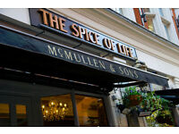 Full Time Front of House Team Member - Up to £7.20 per hour - Spice of Life - Soho, London