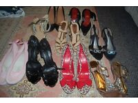 JOB LOT OF LADIES SHOES SIZE 41/8 UK. COLLECTION FROM WHITBY.