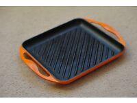 Le Creuset Cast Iron Rectangular Grill Pan - Volcanic Orange!