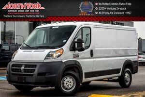 2016 Ram Promaster 136 Low Roof|Backup_Camera|Bluetooth|Trac.Cnt
