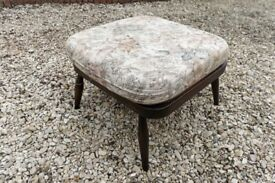 Ercol Solid Beech Framed Windsor 205 Square Footstool / Extension Stool