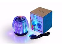 Ultra Portable Wireless Bluetooth Speaker with LED Lights&FM radio