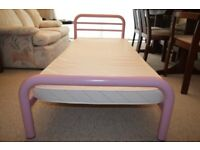 PINK METAL FRAME TODDLERS BED