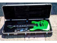 Jackson soloist slxt kawasabi green guitar emg and extras