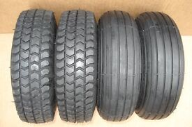 New PUNCTURE PROOF mobility scooter tyres (black) 300 x 4 (265 x 85)