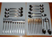 Viners 'Executive Suite' Stainless Cutlery in Very Good Condition, 36 pieces Including 3 Servers.