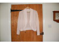 Monsoon pale pink long sleeved cardigan/shrug size xl